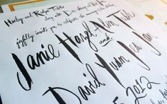 Almost all of the typography is hand drawn, written, or painted by Arley-Rose.