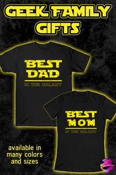 Cool Tee Shirts for Mon and Dad. Shop your #christmasgifts at my store and be prepared for the holiday season! #bestmomtshirt #geek #nerd #geeky #bestdadtshirt #geekgifts #christmasgiftformom #christmasgiftfordad #bestchristmasgifts #familygifts #momtshirt #dadtshirt #christmasgift