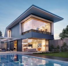 Architecture, Houses, and Design Villa Design, Modern House Design, Style At Home, Home Fashion, Fashion Beauty, Luxury Homes, Beautiful Homes, Architecture Design, House Plans