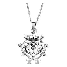 Sterling Silver Scottish Luckenbooth Silver Pendant on 16 chain *** You can find out more details at the link of the image.Note:It is affiliate link to Amazon.