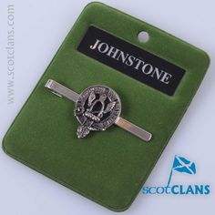 Johnstone Clan Crest Tie Slide. Free Worldwide Shipping Available