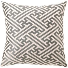 #DLRhein Cross Hatch Granite #Embroidered #Pillow @LaylaGrayce $70
