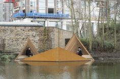 Urban Islet: Nordic Nature Retreat Floats in London Canal