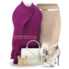 A fashion look from March 2015 featuring Tom Ford blouses, Giuseppe Zanotti sandals and Givenchy shoulder bags. Browse and shop related looks.