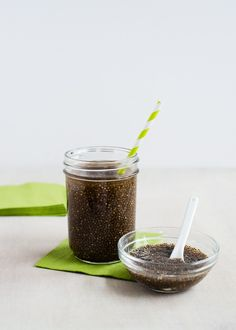 Green Tea + Chia Seeds   HelloNatural.co