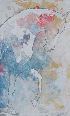 Caballo de la pintura ecuestre original pintura muy por lizwiley