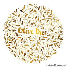 Olive tree Illustration on Behance by Nathalie Ouederni