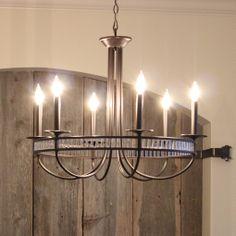 Beautiful natural #rope #chandelier by ELK Lighting hangs beneath ...