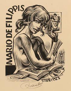 Art-exlibris.net - ex libris di Frank-Ivo Van Damme per Mario de Filippis