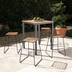 Rihanna Modern Natural/ Black Faux Rattan Outdoor Counter Stools (Set of by Havenside Home(Iron), Patio Dining Chairs Outdoor Stools, Patio Dining Chairs, Patio Table, Outdoor Dining, Rattan Counter Stools, Stackable Stools, Best Outdoor Furniture, New Home Designs, Small Patio
