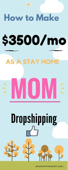 Yes you can really make money online as stay home mom as a dropshipper .Have you ever heard of #dropshipping websites? Well it's the latest advancement in supply and demand. It uses a third party warehouse to save you the hassle of stocking the products you want to sell to your customers. That sounds pretty awesome, right? Let's take a look at some of the benefits of dropshipping. #workathomemom #workfromhomemom