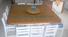 Twelve seater Pennington styled  table.  Ideal for beach homes or kitchen islands.