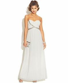 City Studio Juniors' Strapless Sweetheart Dress