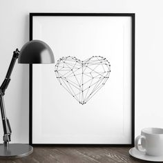 Love Heart Illustrated Polygon Art Print by The Motivated Type, the perfect gift for Explore more unique gifts in our curated marketplace. Typography Prints, Typography Poster, Typography Quotes, Fashion Typography, Polygon Art, Inspirational Posters, Motivational Quotes, Illustrations, Decoration