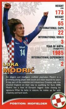 2008 Top Trumps European Football Stars NNO Luka Modric Front