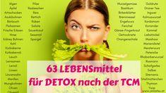 63 LEBENSmittel, Kräuter und Gewürze, die dich beim DETOX mit der TCM unterstützen