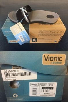 0a6c3fe22be70e Sandals and Flip Flops 62107  New In Box Vionic Sprint Black Orthotic Women  Sandals Flip Flops Size 8 Ladies -  BUY IT NOW ONLY   59.99 on eBay!