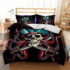 54bf612a32d 3pcs US SIZE Skull Octopus Pattern Kids Bedding Best Sale Multiple Size  Selection. King Comforter SetsDuvet ...