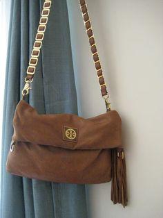 Tory Burch Louisa Leather Cross Body Messenger bag Purse