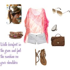 summer casual, created by kim-mac83 on Polyvore