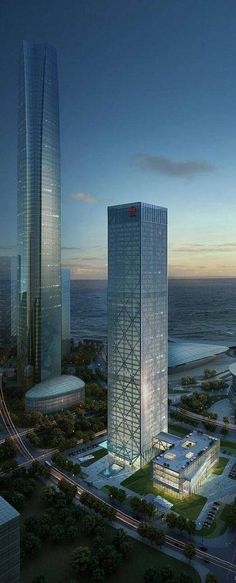 Ansteel Tower, Dalian, China :: 51 floors, height 248m