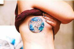 #world #tatts #tattoo #globus es ist soo schön ♡
