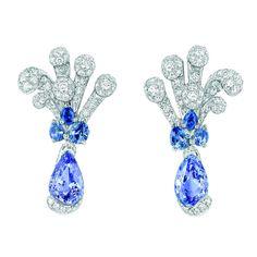 Sapphire diamond earrings by Dior