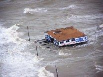 Texas City Dike The deck to Curl's on the front has given away as the water rises. This was destroyed by Hurricane Ike . Apartheid, Flood Insurance, Car Insurance, Texas Hurricane, Flood Damage, Sea Level Rise, Pay It Forward, Water Damage, Investment Property