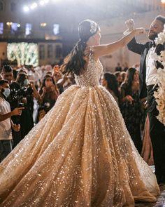 Wedding Dresses With Charm For Fall 2021 ❤ fall wedding dresses beige sequins ball gown mjbymirnajawhari #weddingforward #wedding #bride #weddingoutfit #bridaloutfit #weddinggown