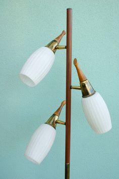 Reserve For Liz Vintage Mid Century Modern Danish Style Pole Lamp