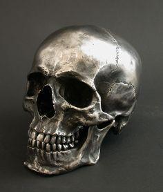 Full Size Human Skull - Steel