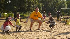 "Athlete Ambassador and Captain of the Boston Bruins, Zdeno Chara on a visit to Right To Play programs in Mozambique and Tanzania (2008); the trip was part of an NHL Network special which saw ""Big Zee"" climb Mt. Kilimanjaro to raise funds for Right To Play"