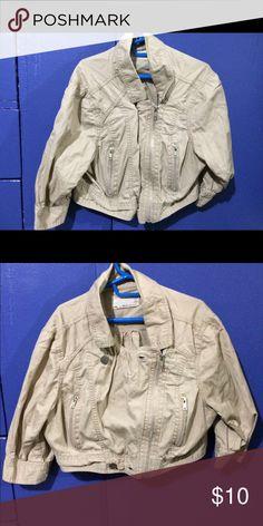 Very cute tan cropped jacket Tan short jacket, Mid sleeves, super cute Ali & Kris Jackets & Coats