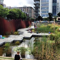This was walking distance from where I lived in Portland! <3  Tanner Springs Park. Pearl District, Portland, Oregon..