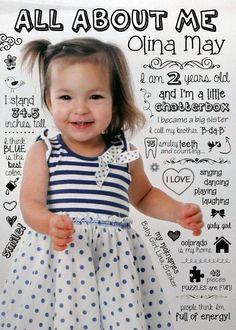 Kleine angepasst Jahr Review Infographik - Babys erstes Jahr. 1. Jahr-Foto, Statistik, Meilensteine, Geburtstagsgeschenk, Scrapbook, Collage