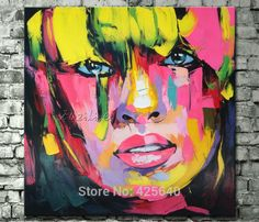 Find More Painting & Calligraphy Information about Palette knife painting portrait Palette knife Face Oil painting Impasto figure on canvas Hand painted Francoise Nielly 09,High Quality painting art canvas,China art painting ideas Suppliers, Cheap art still life painting from Eazilife Oil Painting on Aliexpress.com
