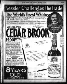 Cedar Brook Whiskey 8 years old BIB W.H. McBrayer's El Paso Morning Times (El Paso, Tex.), Vol. 34TH YEAR, Ed. 1, Thursday, September 11, 1913