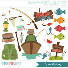 [Clipart Dad Fishing]