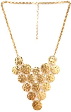 hammered bib necklace - Google Search
