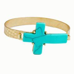 Turquoise Latch Bangle [10084778] - $14.00