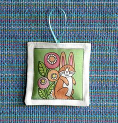 Cottontail Bunny Rabbit Lavender Sachet for Easter by SusanFayePetProjects, $7.00