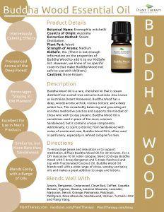 Buddha Wood Product Sheet