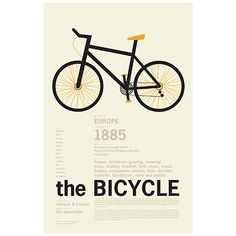 THE BICYCLE ENCYCLOPEDIC PRINT from Uncommon Goods