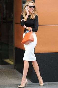 Office style. Without the orange bag