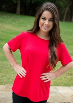 Piko SS Tee ~ Red available at J. Lilly's Boutique or jlillysboutique.com