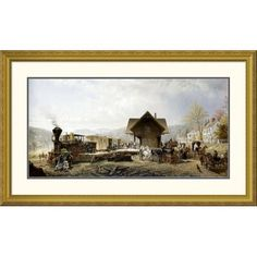 ' by Edward Lamson Henry Framed Painting Print Size: H x W x D Painting Frames, Painting Prints, Perspective Art, American Traditional, Paper Houses, Nature Scenes, World Cultures, Fractals, Custom Framing