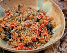 Quinoa with Squash, Peppers and Figs