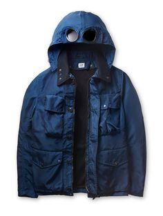 C.P. Company - NYSACK High Tenacity Nylon Broad Cloth Goggle Jacket in Blue