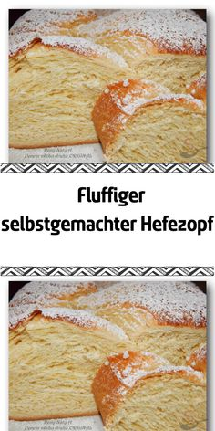 Fluffiger selbstgemachter Hefezopf The yeast braid was intended for today's breakfast but if I look Banana Dessert Recipes, No Bake Desserts, Easy Desserts, Baking Recipes, Cake Recipes, Food Cakes, No Bake Cake, Bakery, Food Porn