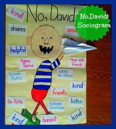 """No, David is a great lesson to introduce, """"What is a good friend? A sociogram is a great tool to identify social relationships in the classroom. No David, Teaching Tips, Creative Teaching, Positive Behavior Support, Next Generation Science Standards, Beginning Of School, Social Skills, Classroom Management, Special Education"""